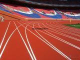 重庆SPU全塑自结纹塑胶跑道 施工维修价格造价性价比高