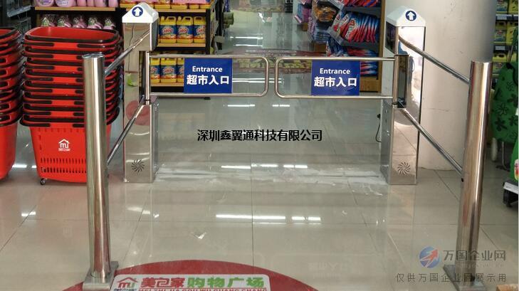 圆柱超市红外感应门,超市单向防盗感应器