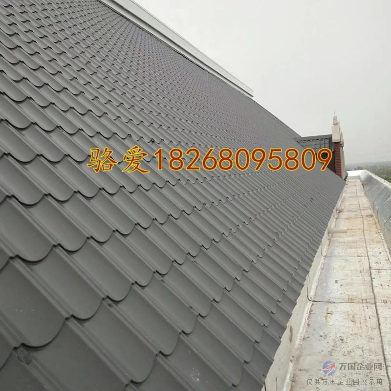 765标准型彩钢仿古瓦 铁皮琉璃瓦 重量轻仿古屋檐装饰