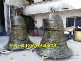 工厂直供大型敲钟仿铜雕塑玻璃钢警示古钟模型定做