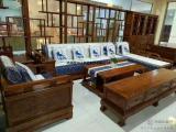 实木家具 老榆木沙发 沙发组合 客厅家具 办公家具 拐角沙发
