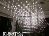 星球灯厂家批发商业美陈中庭景观新款LED烟火花火星球中庭吊灯