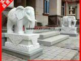 花岗岩招财石雕大象 大理石门口吉象雕刻 惠安石雕大象厂家
