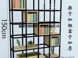 美式储物柜书架铁艺格子落地玄关创意客厅loft隔断置物架