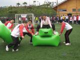 北京供应充气趣味运动会道具充气体育器材人桥接力