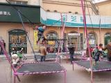 广场游乐场折叠钢架蹦极儿童弹跳床小型游乐设备