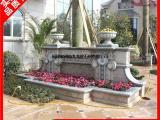 石雕花盆黄锈石花钵 小区景观住宅装饰石雕花钵摆件