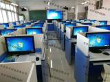 数字教室标准化卡座-语音教室标准化考场-升降屏风电脑桌