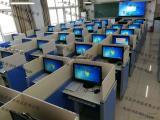语言教室升降屏风电脑桌 语音机考卡座