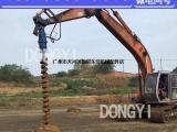 挖掘机螺旋钻孔机