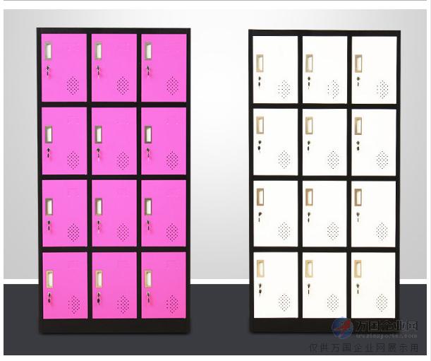 彩色15门鞋柜尺寸 固彩gc-06健身房更衣柜定制