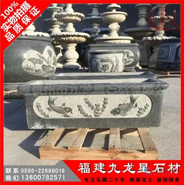石雕花缸5