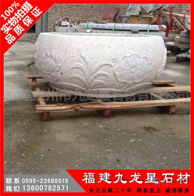石雕花缸6