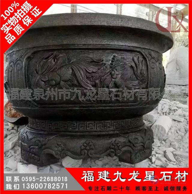 石雕花缸3
