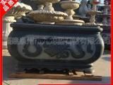 品牌行情石雕花缸 古建寺院仿古石雕花盆鱼缸订做