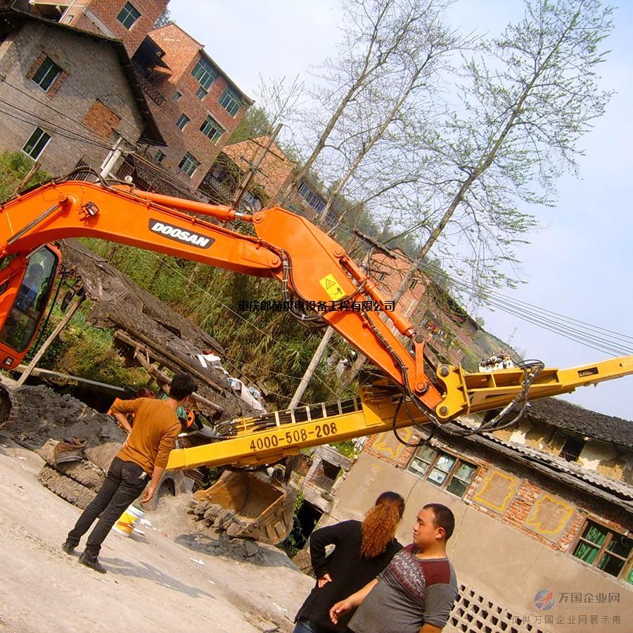 挖掘机改装全液压冲击钻机、1分钟1米,高效低耗