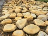 小型园林石刻字黄蜡石小区景观石乡村招牌石