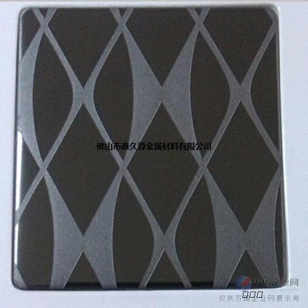 蚀刻黑钛金不锈钢板