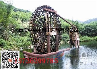 防腐木水车生产厂家电驱动水车厂家仿古水车价格水车图片
