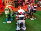 新版狗年主题卡通狗模型出租暖场玻璃钢狗狗雕塑出售