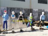 八款形态各异的玻璃钢仿真男女人像雕塑购物主题布展