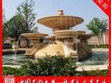 石雕水钵 埃及米黄水钵 大型别墅园林石雕喷泉