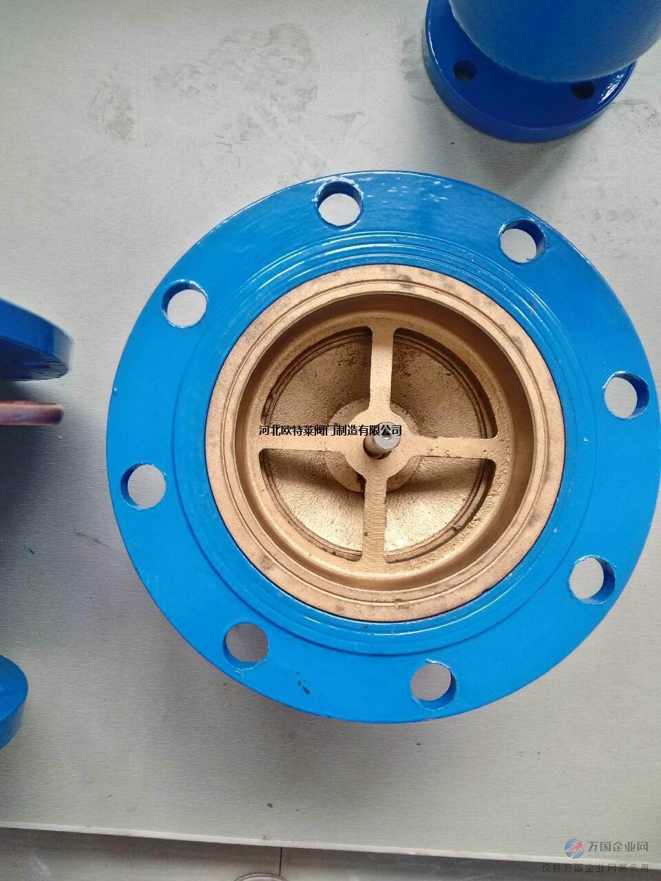 河北欧特莱hc41x消声止回阀 实体厂家 现货供应图片