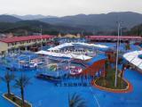 蓝色水性漂流河刷漆工程 水上乐园环保室外地坪漆施工材料