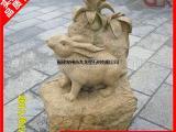 石雕十二生肖雕刻 黄锈石十二生肖成品案例图片(全)