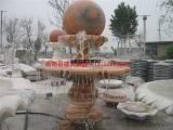 石雕风水球 风水球喷泉  石球喷泉