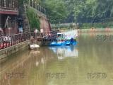 收割收集水上杂草设备  河道水草打捞机  水上割草船