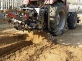 厂家低价销售自来水管道开沟机 水管链条挖沟机