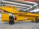 旱地淘金机械 移动淘金设备 移动淘金车 水上淘金船