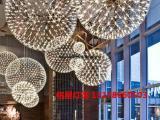 中山铭星灯饰大型商场购物中心开业中庭吊饰创意设计发光造型球灯