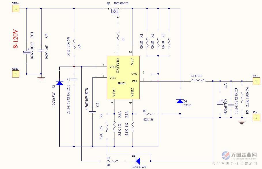 1-10a 内置过温保护,内置软启动,内置输出短路保护   开机瞬间无过冲