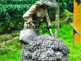 采茶女雕塑,茶文化雕塑,民俗小品雕塑