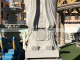 花岗岩孔子雕像孔子行教像摆件石雕古代人物