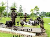 玻璃钢渔民捕鱼雕塑渔夫渔业文化雕塑公园园林广场景观小品