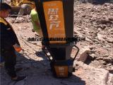 开挖基坑挖机破不开石头太硬大力劈石机