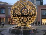 不锈钢景观球雕塑金属镂空球发光花纹球【伊甸园】