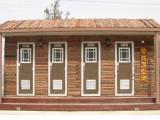 供应豪华优质耐用型防腐木类移动厕所