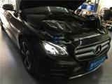 奔驰新E级改装多光束几何LED智能随动解锁蓝光大灯