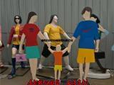 一家三口剪影雕塑,幸福家庭雕塑