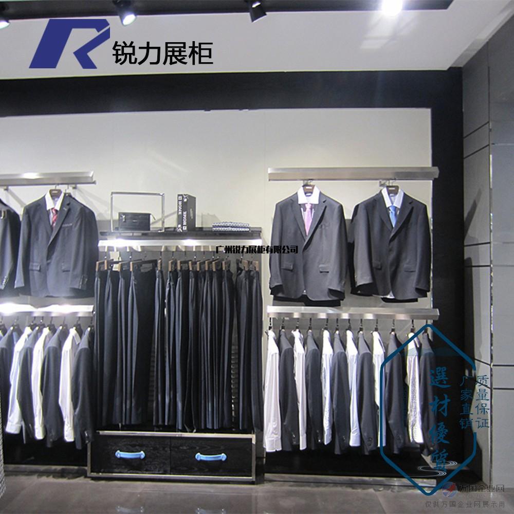 男女服装店衣架展示架高档复古上墙陈列货架展柜落地