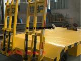 4吨带登车桥挖掘机、压路机、铲车专用平板拖车