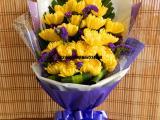武汉大型鲜花市场供应扫墓祭祀用的黄白菊花,单朵大量售价
