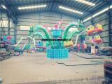 户外大型游乐设备儿童旋转大章鱼炫酷LED炫彩灯光 厂家定制