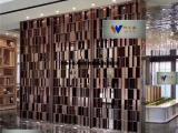 供应酒店家庭玫瑰金不锈钢隔断屏风定制缕空不锈钢屏风
