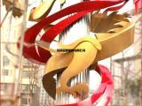 大型不锈钢雕塑  抽象龙凤戏珠吉祥公园城市园林景观雕塑