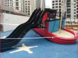 玻璃钢船雕塑 大型游乐场公园仿真船模型雕塑 厂家定制